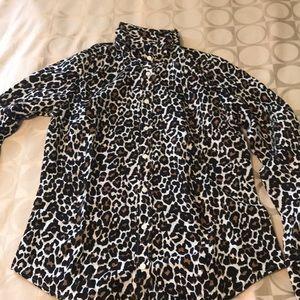 Jcrew leopard blouse